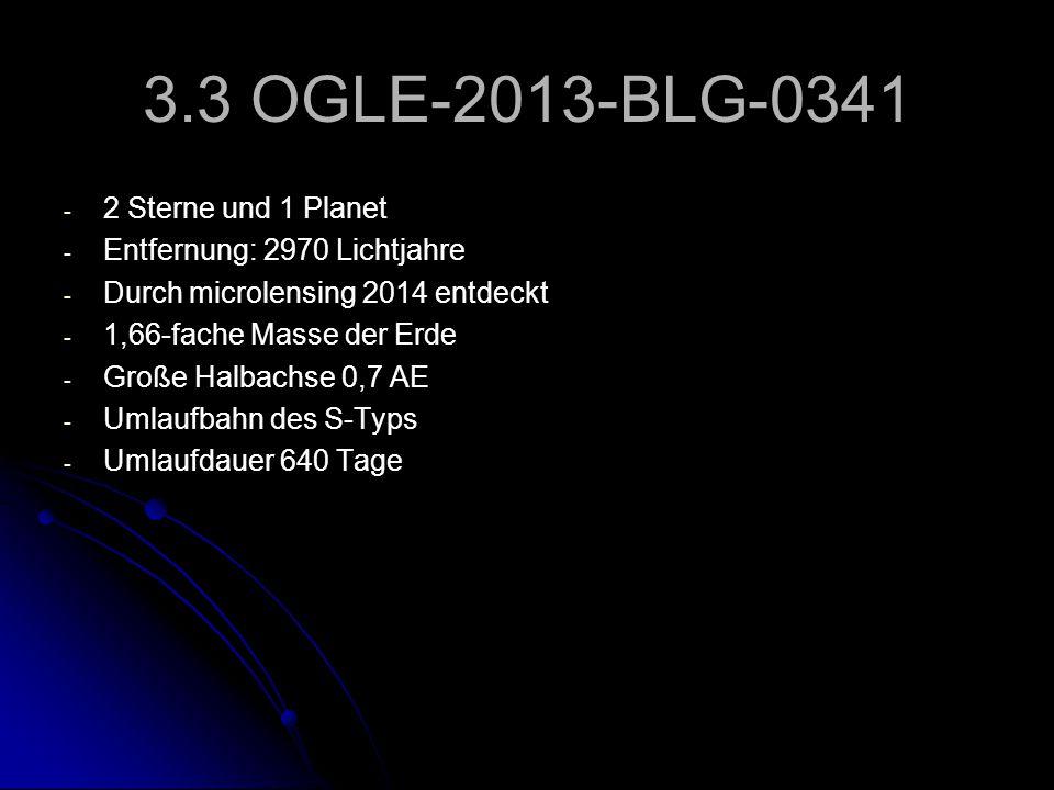 3.3 OGLE-2013-BLG-0341 2 Sterne und 1 Planet