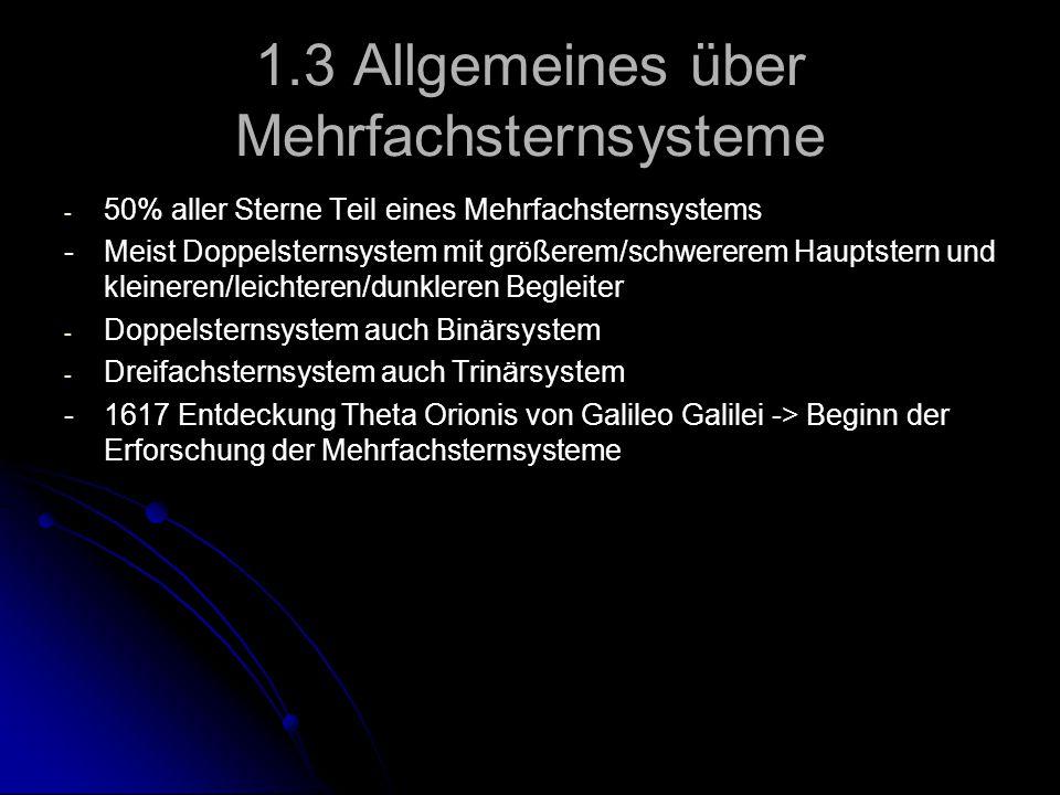 1.3 Allgemeines über Mehrfachsternsysteme