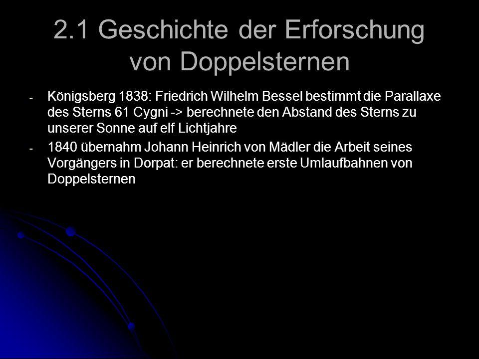 2.1 Geschichte der Erforschung von Doppelsternen