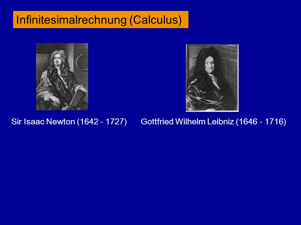 Infinitesimalrechnung (Calculus)