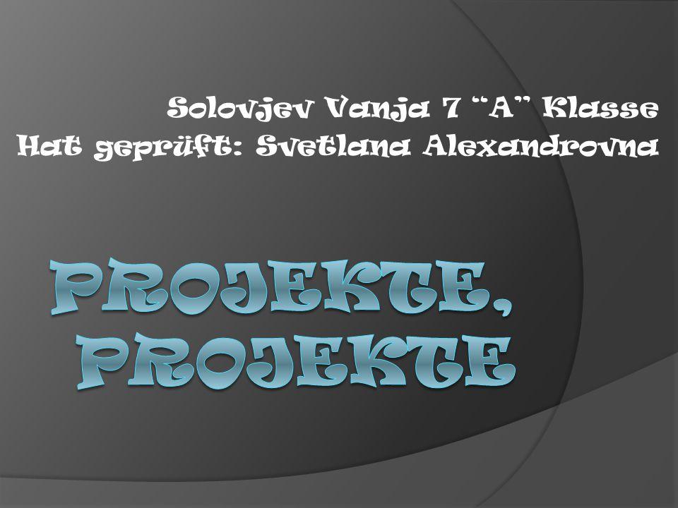 Solovjev Vanja 7 A Klasse Hat geprüft: Svetlana Alexandrovna