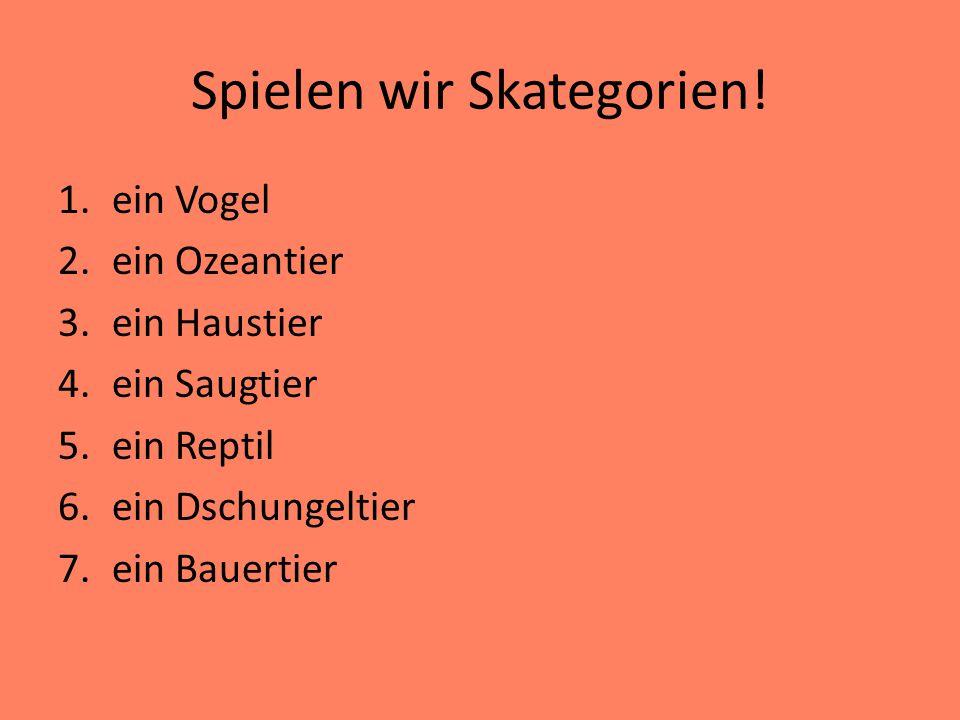 Spielen wir Skategorien!