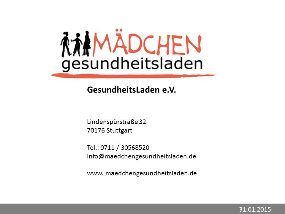 GesundheitsLaden e.V. Lindenspürstraße 32 70176 Stuttgart