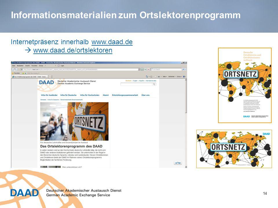 Informationsmaterialien zum Ortslektorenprogramm