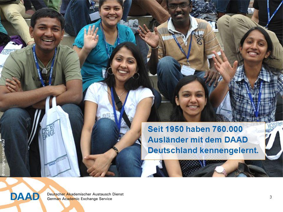 Seit 1950 haben 760.000 Ausländer mit dem DAAD Deutschland kennengelernt.
