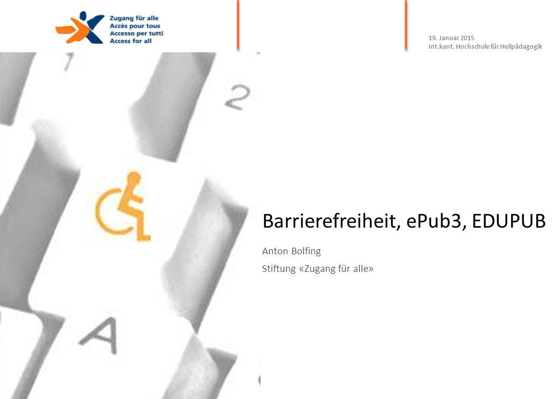 Barrierefreiheit, ePub3, EDUPUB