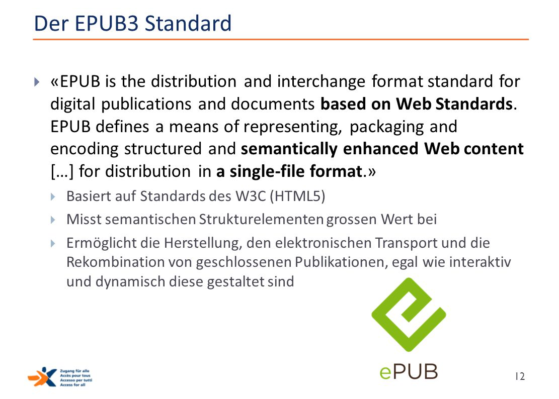 Der EPUB3 Standard