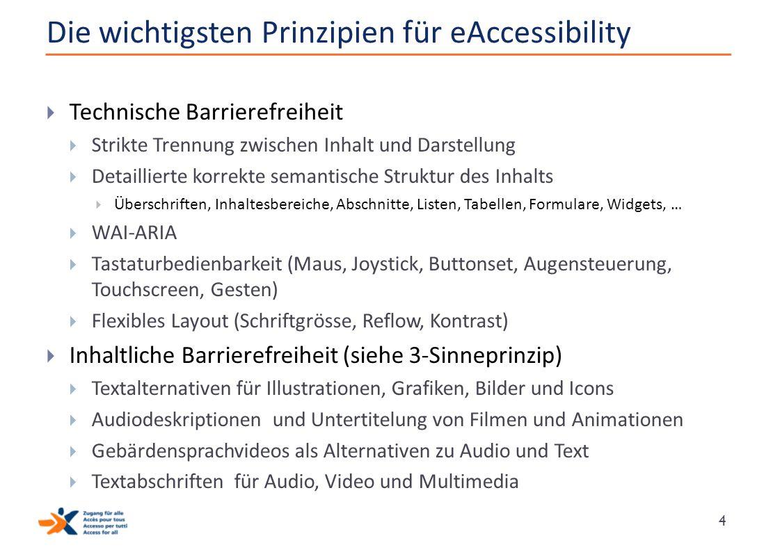 Die wichtigsten Prinzipien für eAccessibility