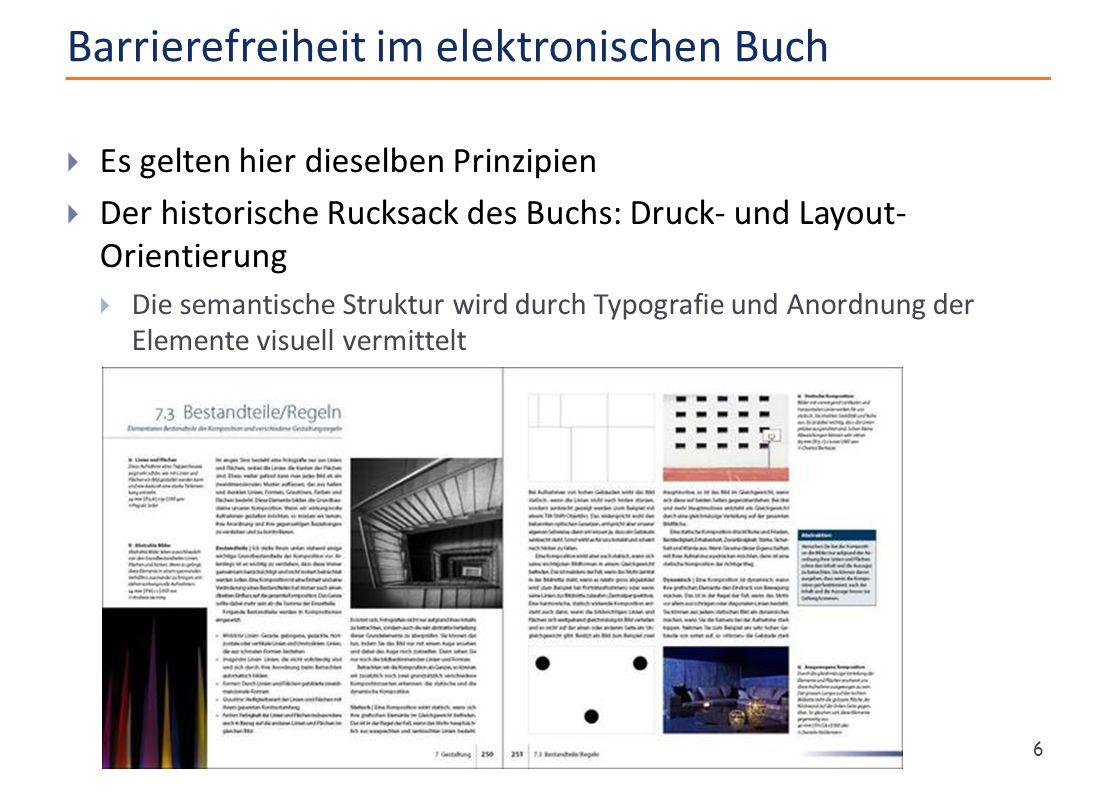 Barrierefreiheit im elektronischen Buch
