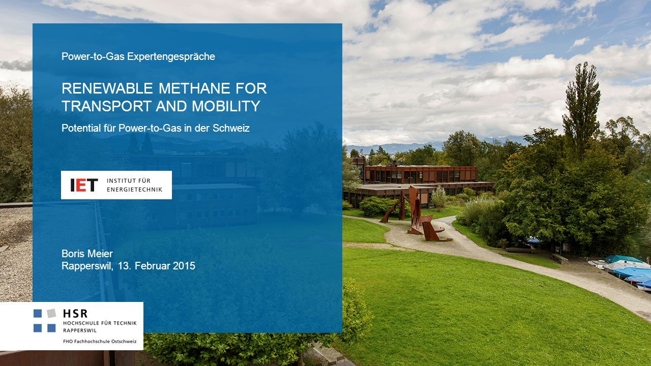 Renewable methane for transport and mobility