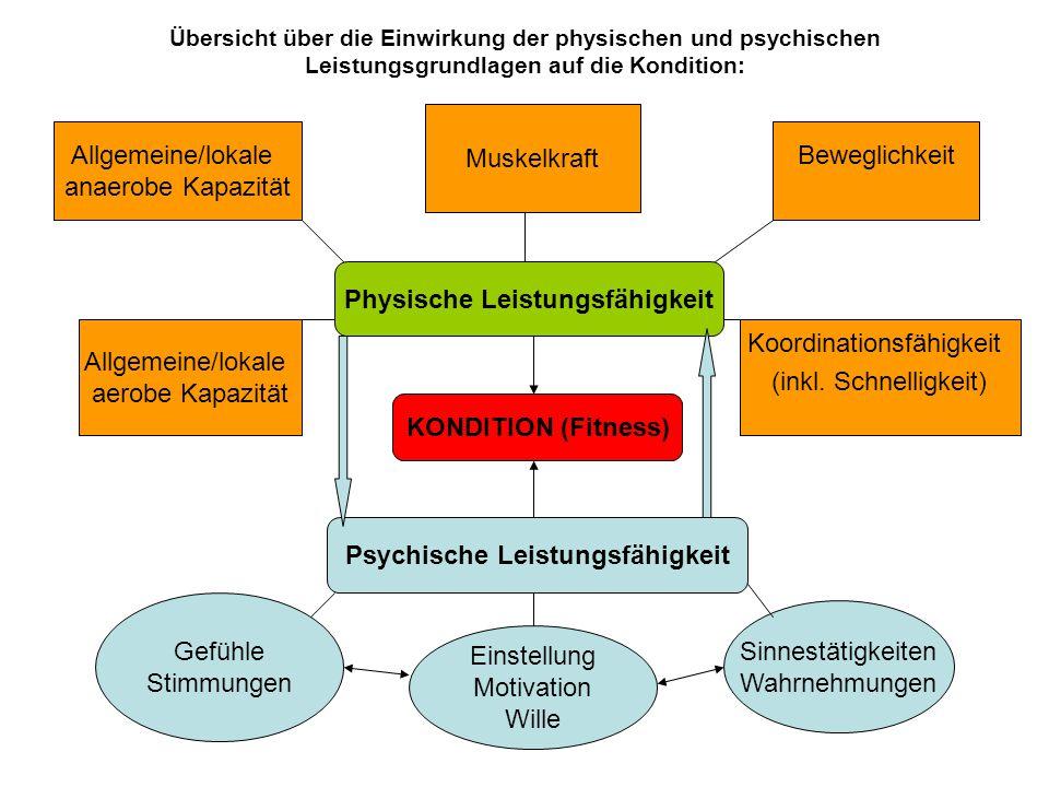 Physische Leistungsfähigkeit Psychische Leistungsfähigkeit