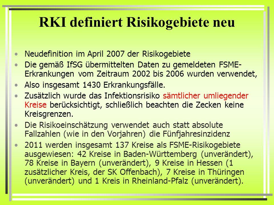 RKI definiert Risikogebiete neu