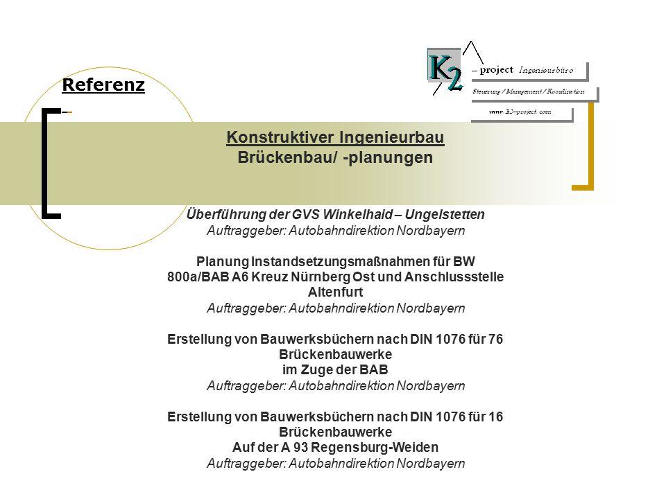 Konstruktiver Ingenieurbau Brückenbau/ -planungen