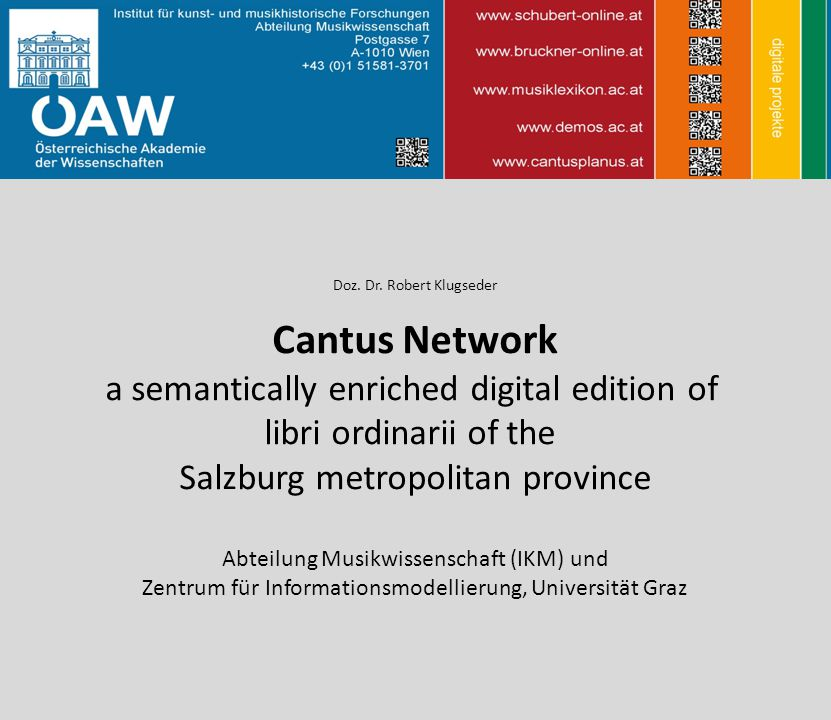 Cantus Network a semantically enriched digital edition of