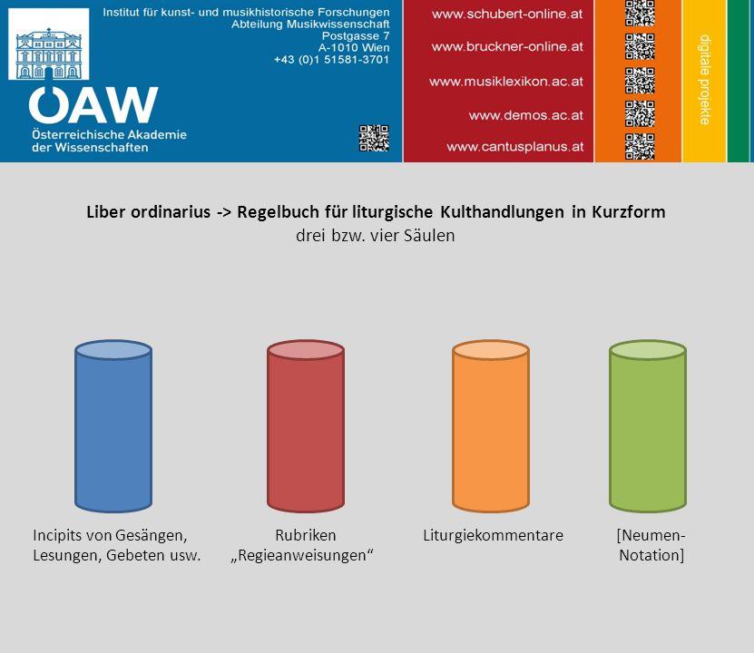 Liber ordinarius -> Regelbuch für liturgische Kulthandlungen in Kurzform