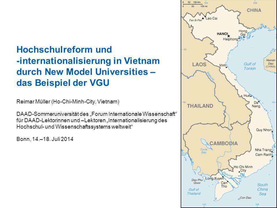 Hochschulreform und -internationalisierung in Vietnam durch New Model Universities – das Beispiel der VGU