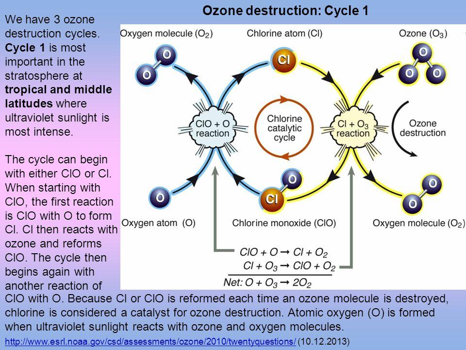 Ozone destruction: Cycle 1