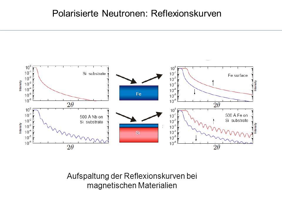 Polarisierte Neutronen: Reflexionskurven