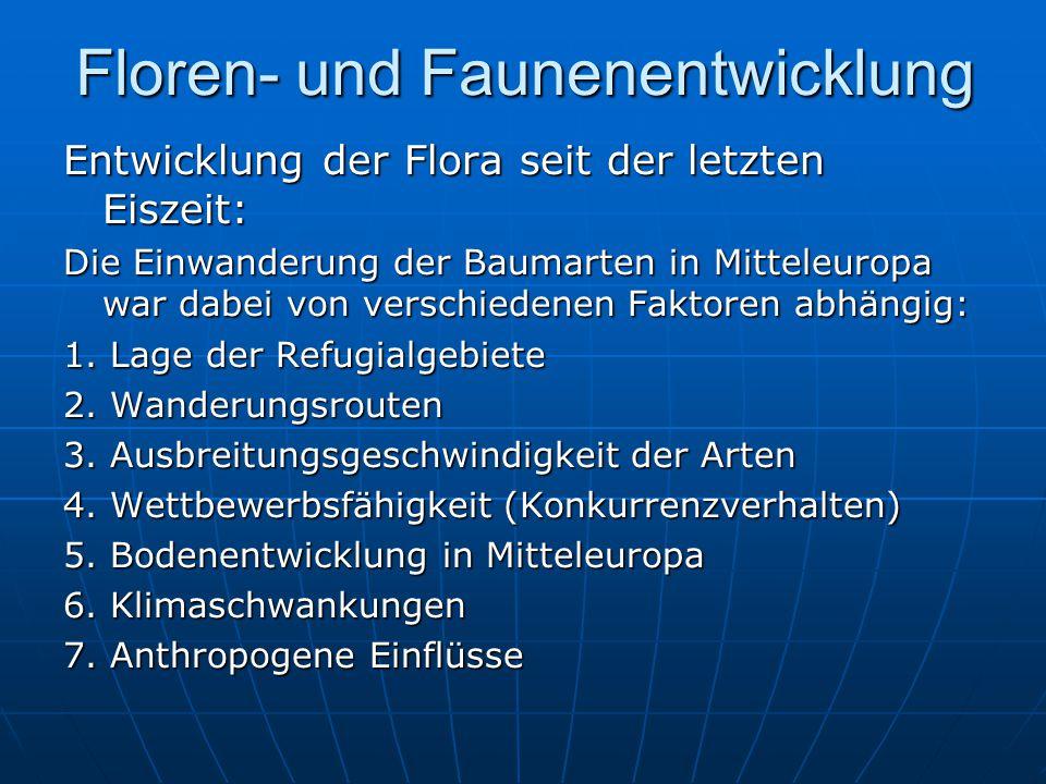 Floren- und Faunenentwicklung