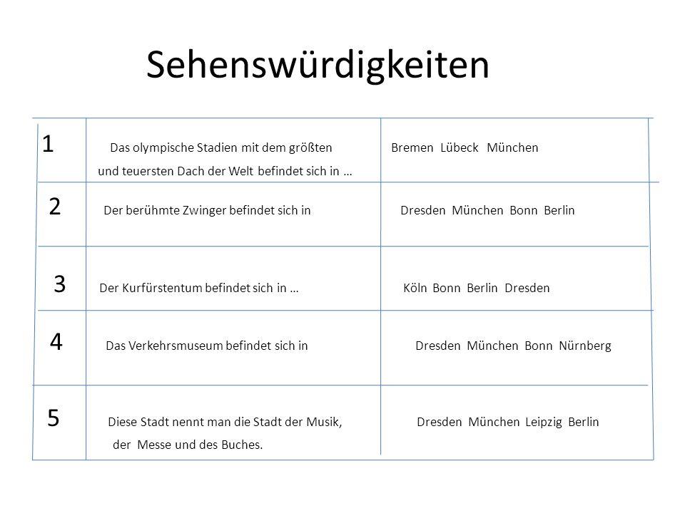 Sehenswürdigkeiten 1 Das olympische Stadien mit dem größten Bremen Lübeck München.