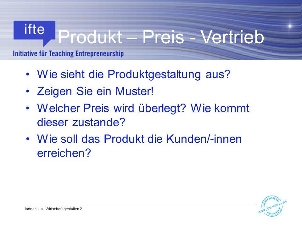 Produkt – Preis - Vertrieb