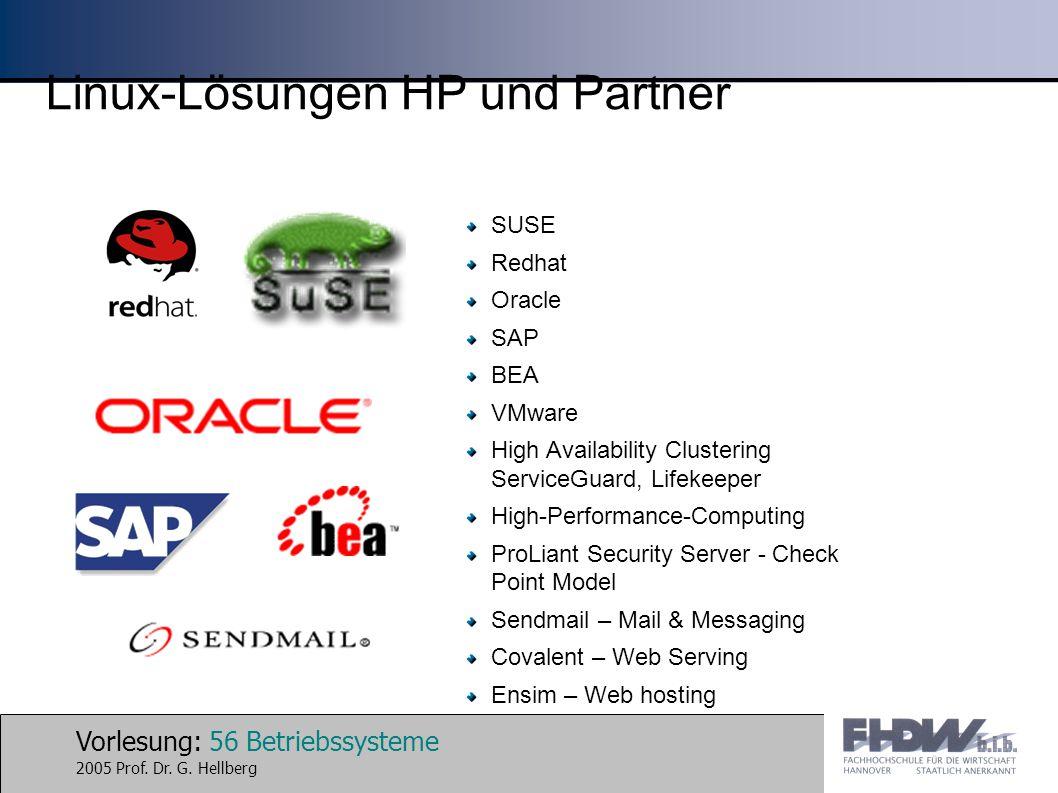 Linux-Lösungen HP und Partner