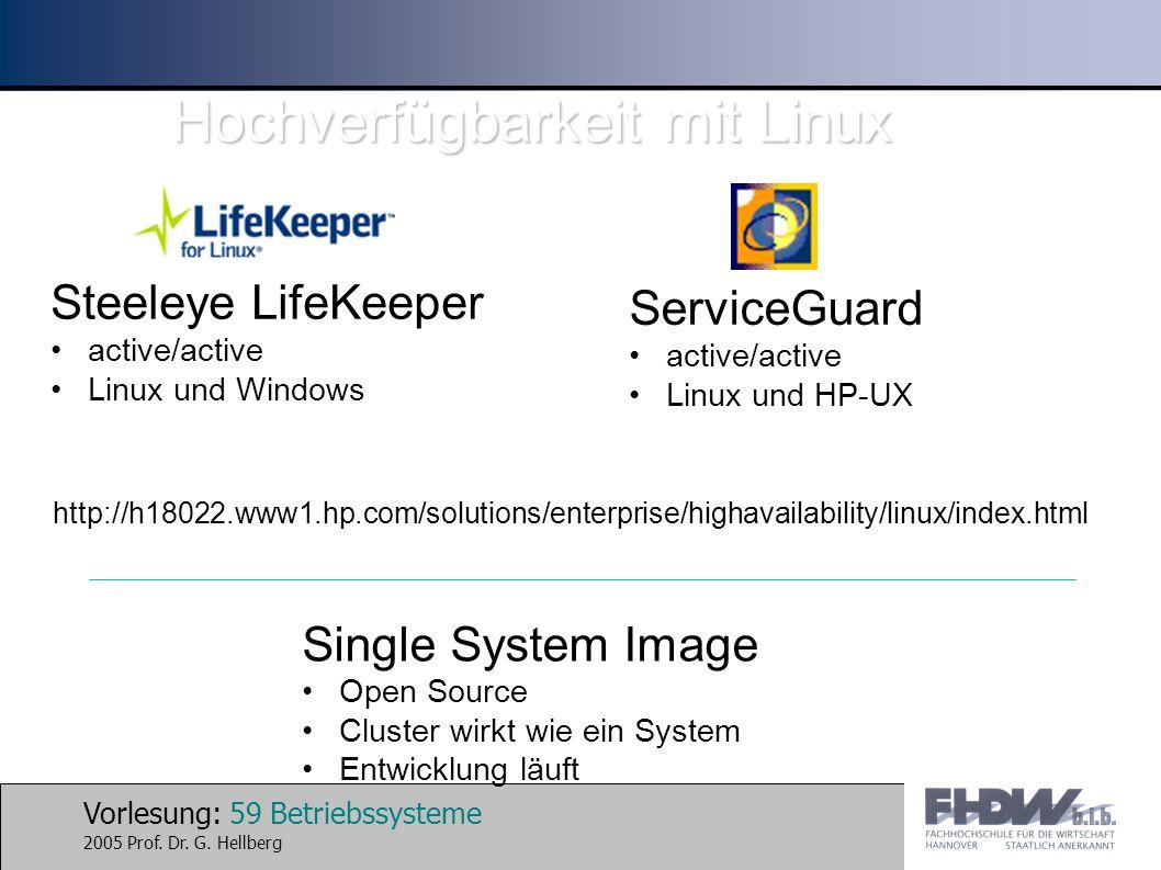 Hochverfügbarkeit mit Linux