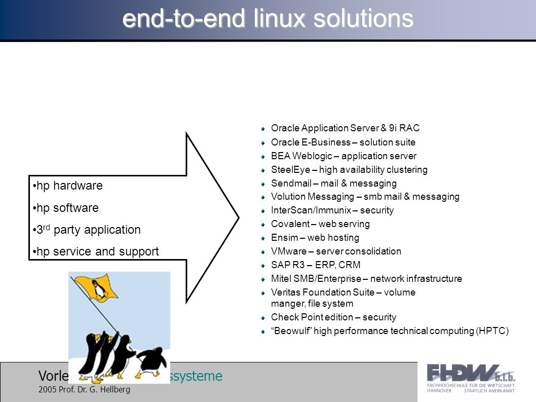 end-to-end linux solutions