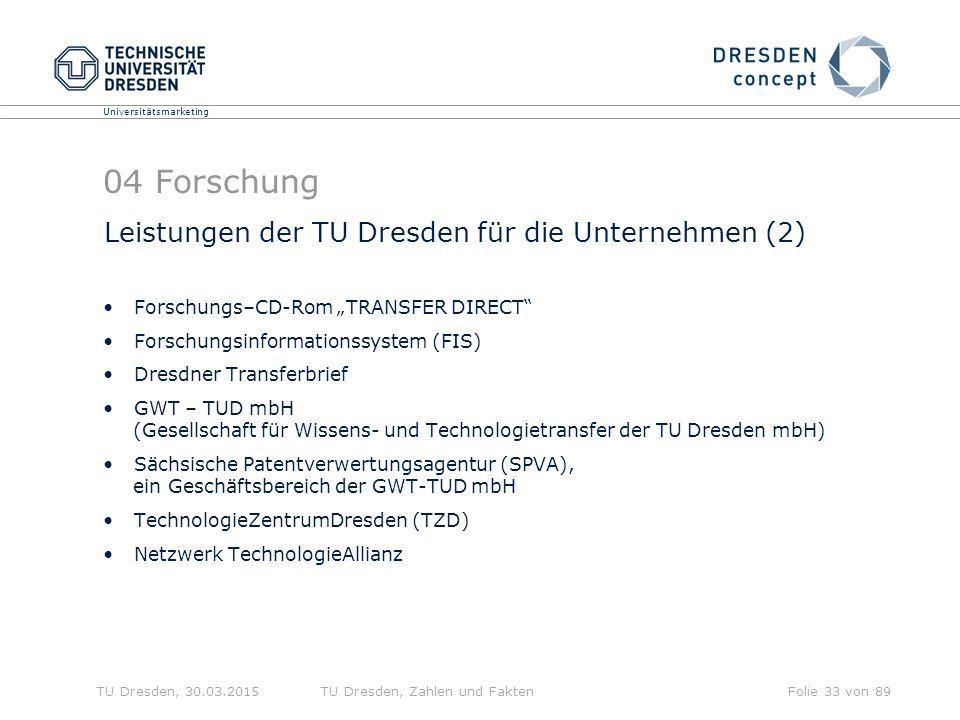04 Forschung Leistungen der TU Dresden für die Unternehmen (2)