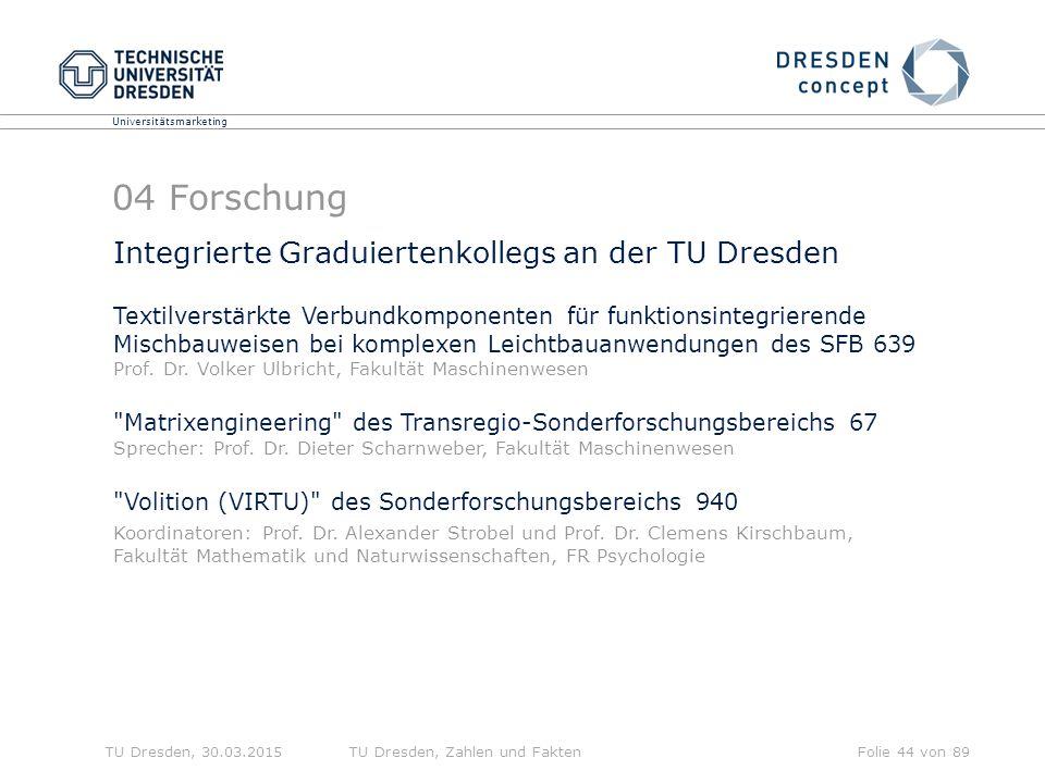 04 Forschung Integrierte Graduiertenkollegs an der TU Dresden