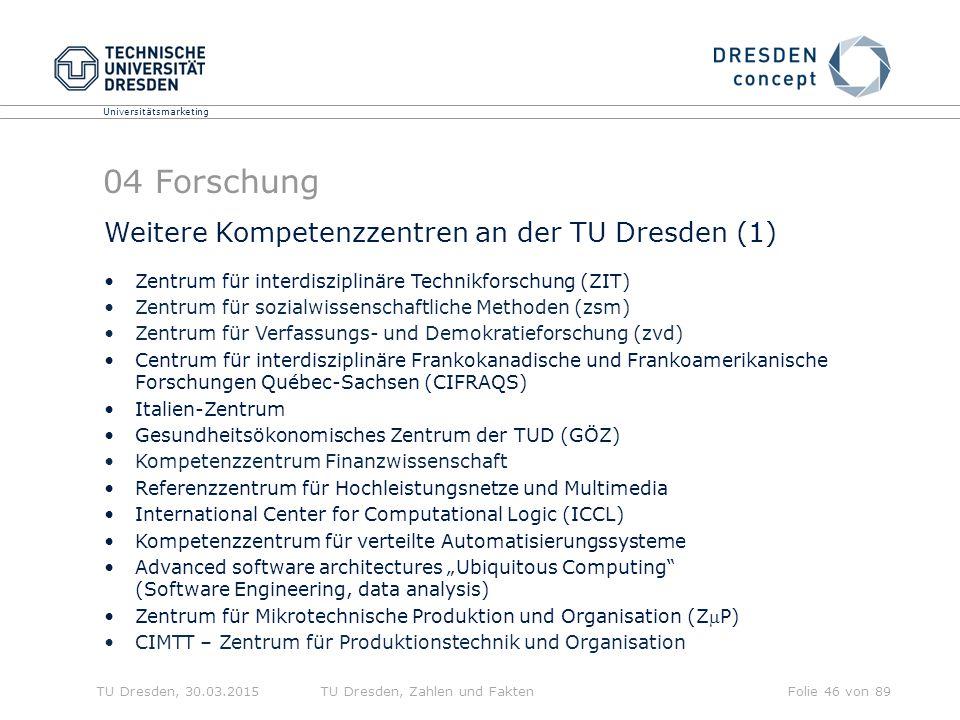 04 Forschung Weitere Kompetenzzentren an der TU Dresden (1)