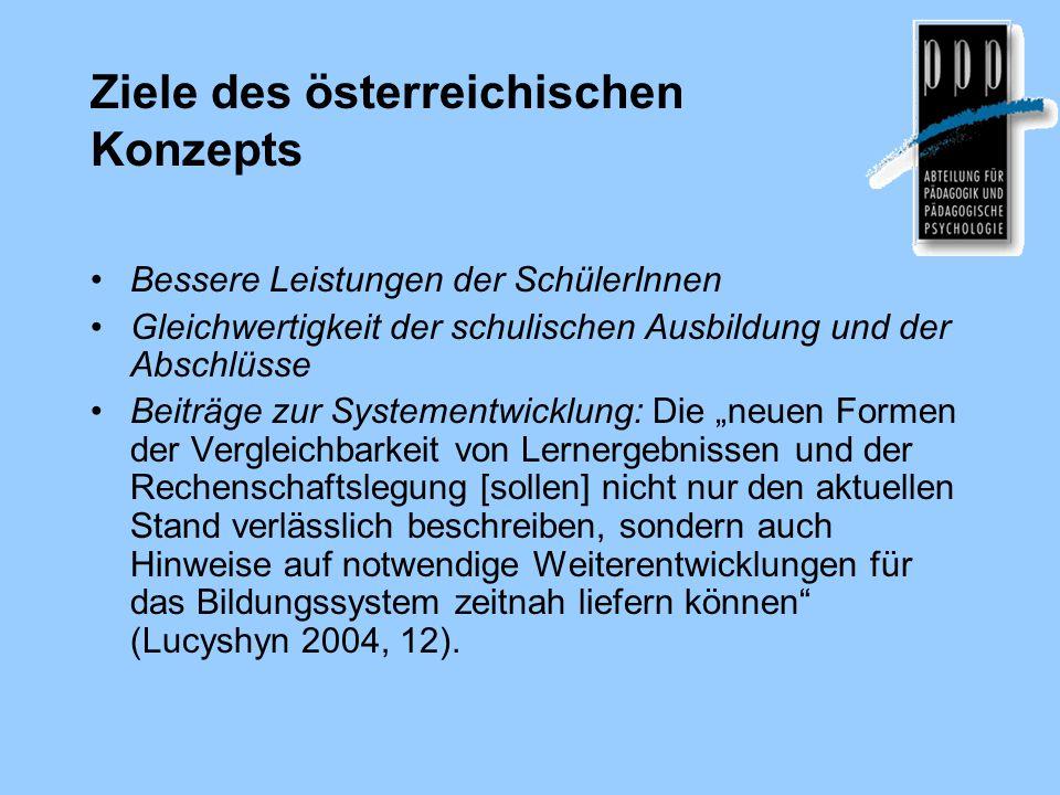 Ziele des österreichischen Konzepts
