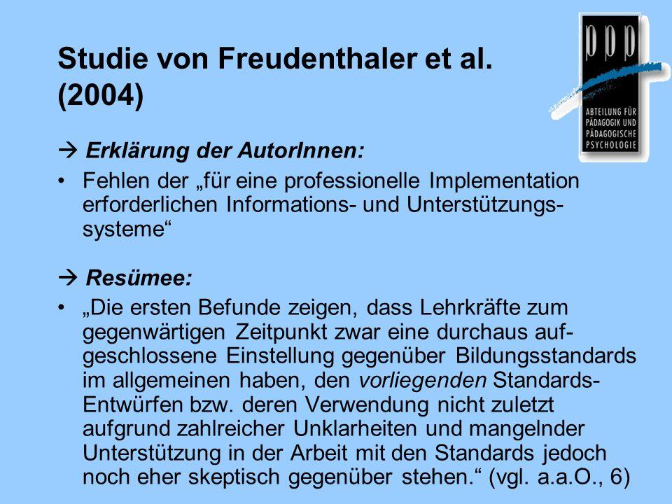 Studie von Freudenthaler et al. (2004)