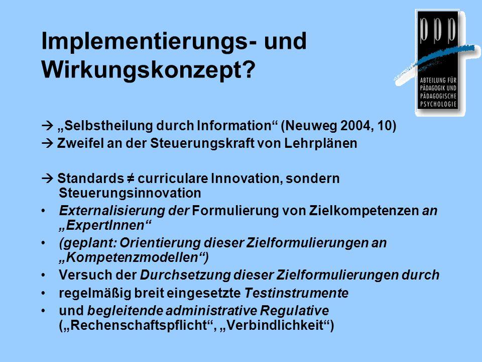 Implementierungs- und Wirkungskonzept