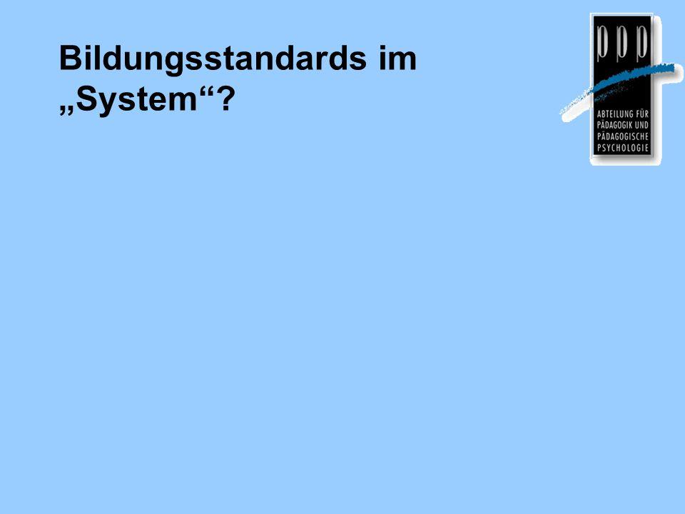 """Bildungsstandards im """"System"""