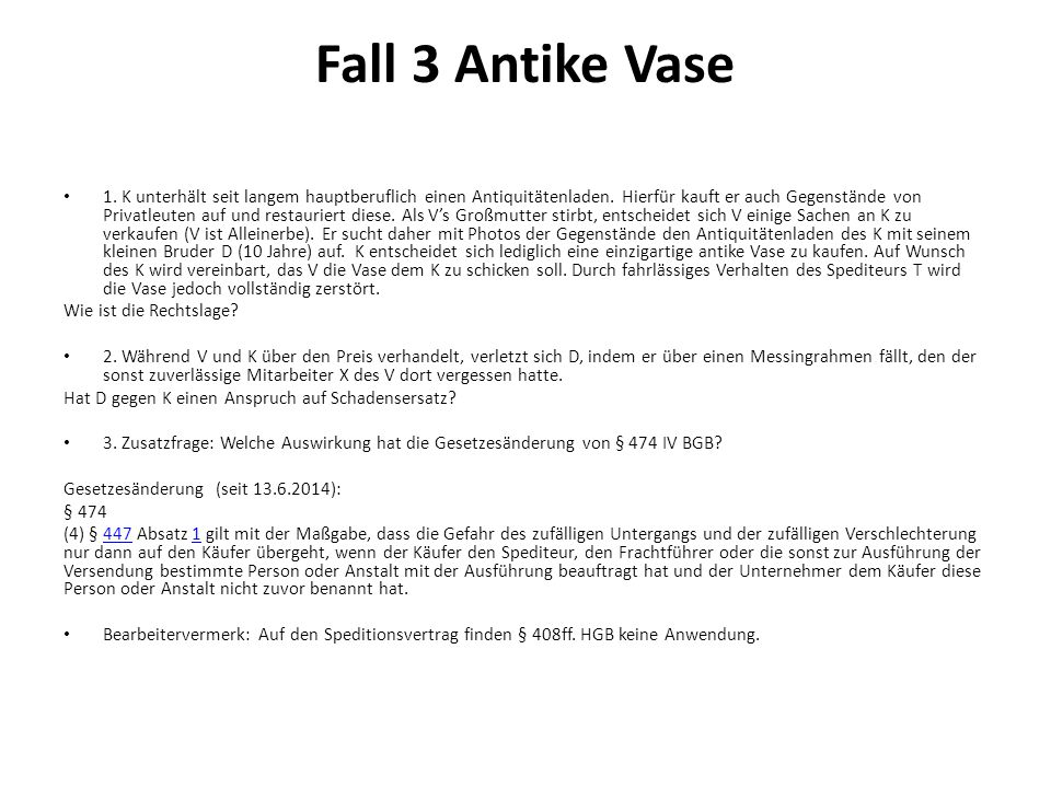 Fall 3 Antike Vase