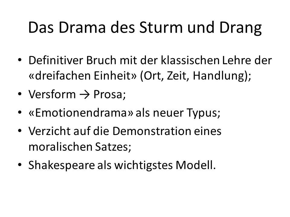 Das Drama des Sturm und Drang