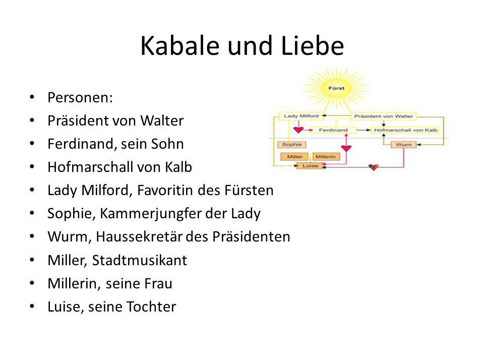 Kabale und Liebe Personen: Präsident von Walter Ferdinand, sein Sohn