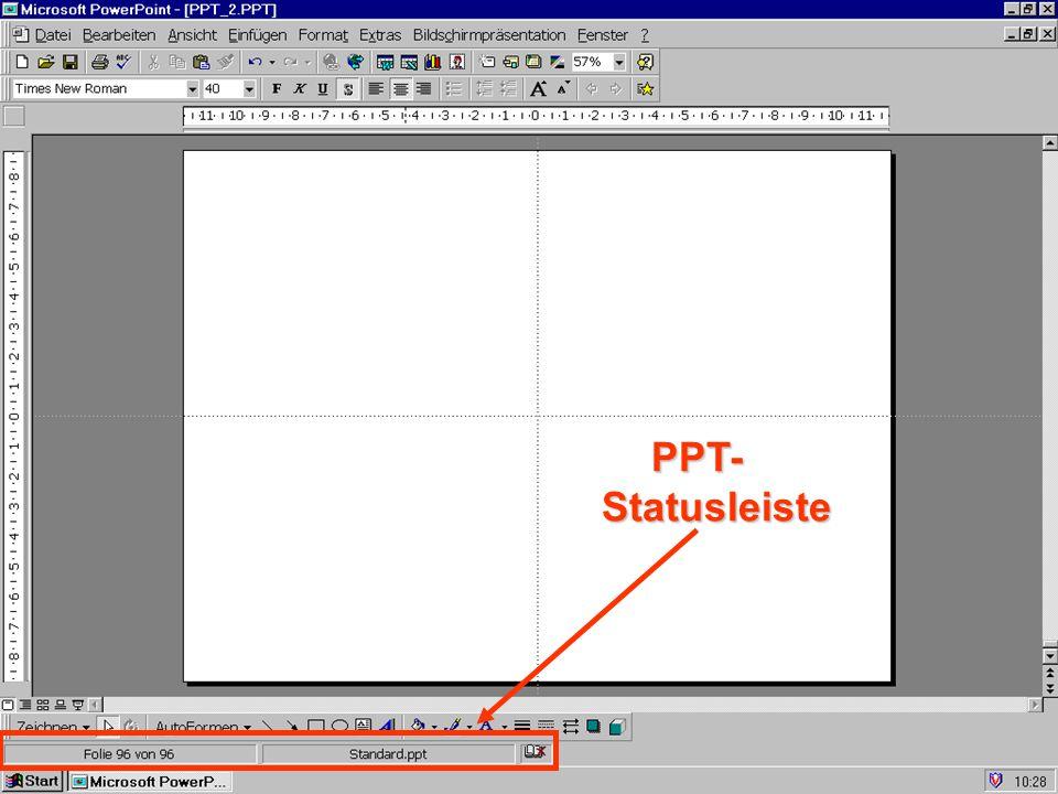 PPT-Statusleiste