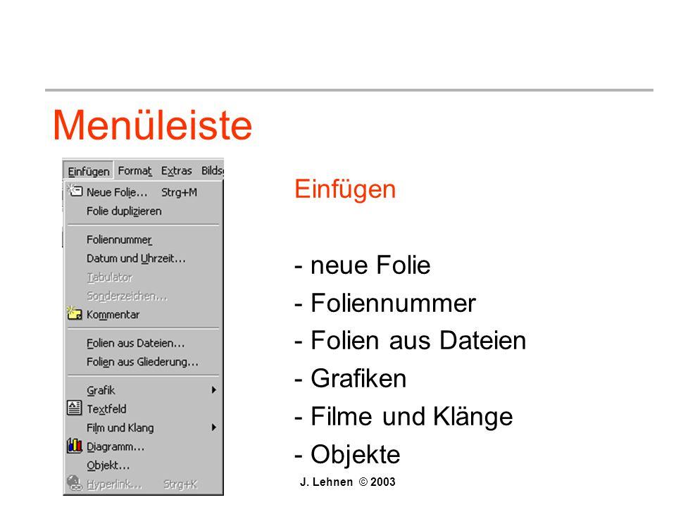 Menüleiste Einfügen - neue Folie - Foliennummer - Folien aus Dateien