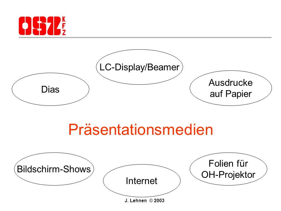 Präsentationsmedien LC-Display/Beamer Ausdrucke Dias auf Papier