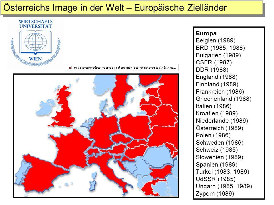 Österreichs Image in der Welt – Europäische Zielländer