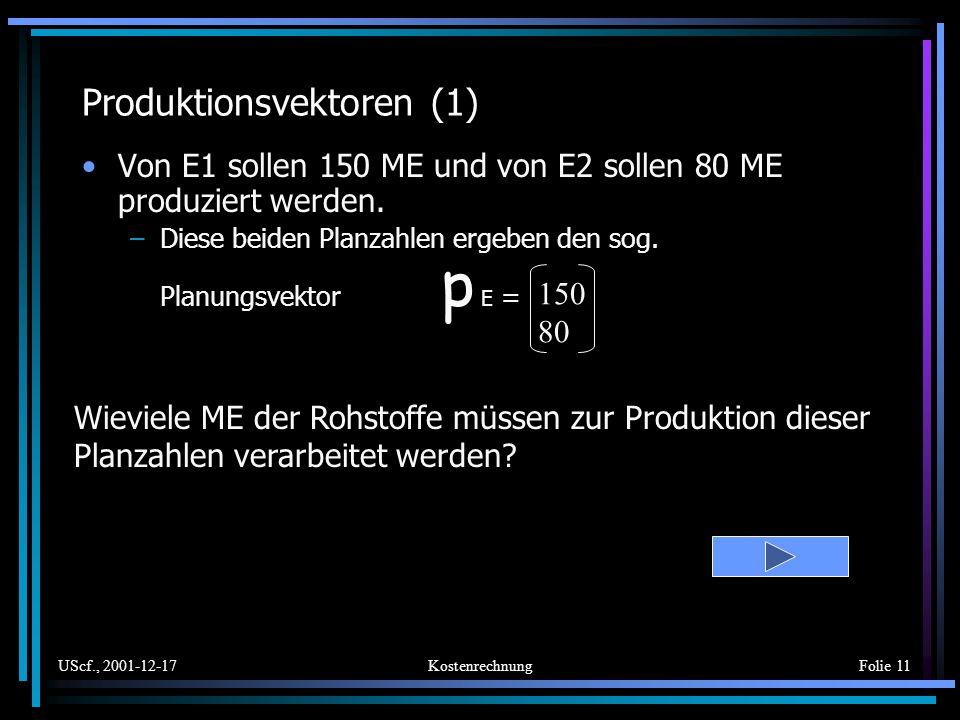 Produktionsvektoren (1)