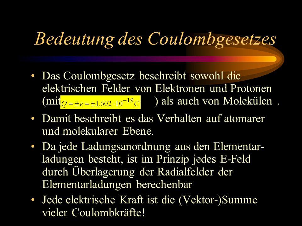 Bedeutung des Coulombgesetzes