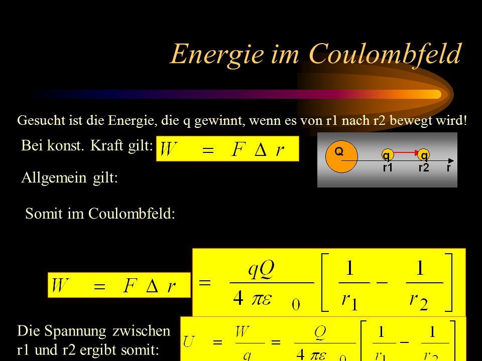 Energie im Coulombfeld