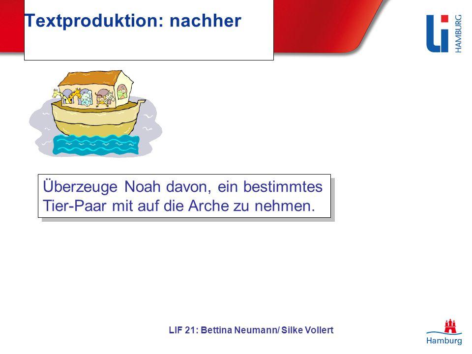 Textproduktion: nachher