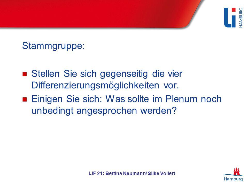 LIF 21: Bettina Neumann/ Silke Vollert