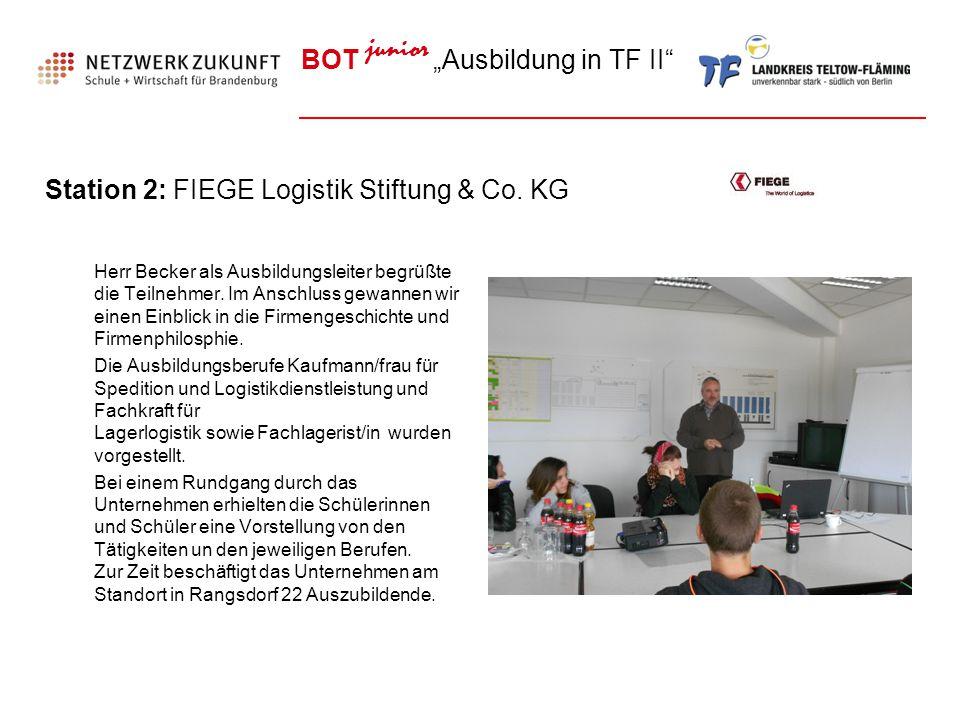 Station 2: FIEGE Logistik Stiftung & Co. KG