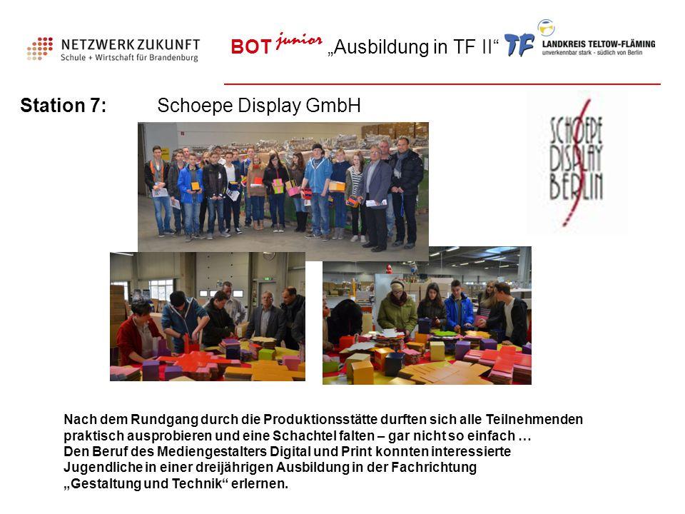 "BOT junior ""Ausbildung in TF II"