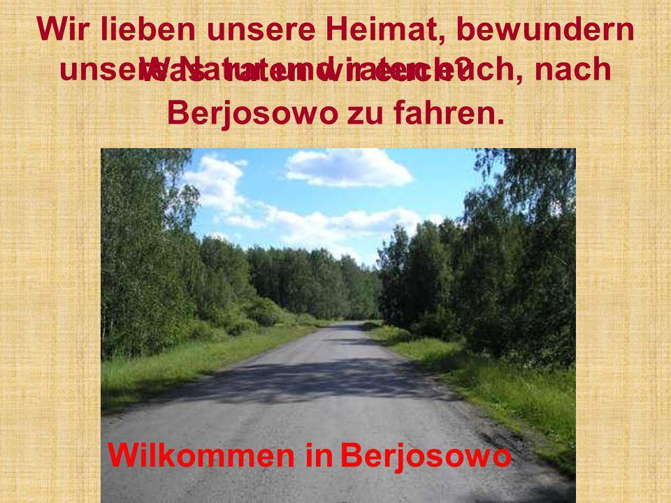 Wir lieben unsere Heimat, bewundern unsere Natur und raten euch, nach Berjosowo zu fahren.
